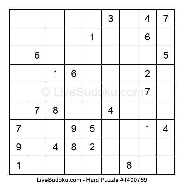 Hard Puzzle #1400769