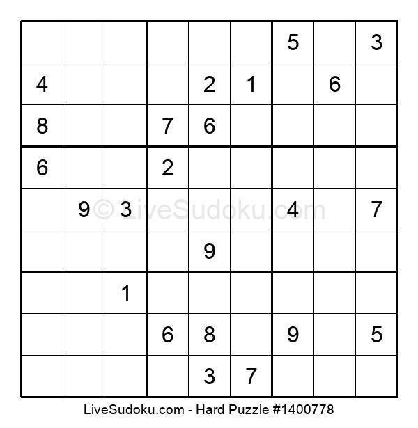 Hard Puzzle #1400778