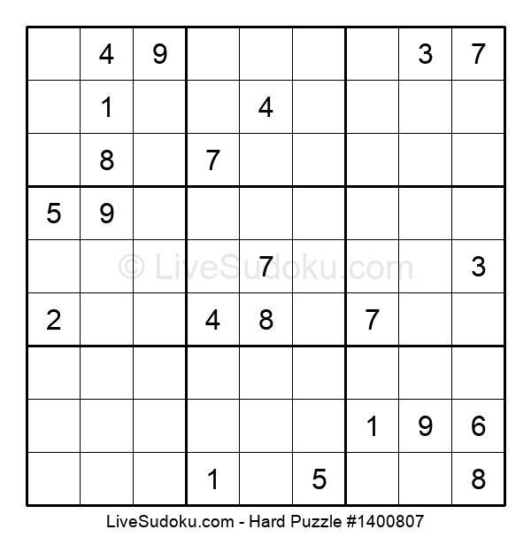Hard Puzzle #1400807