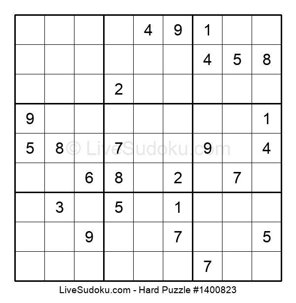 Hard Puzzle #1400823