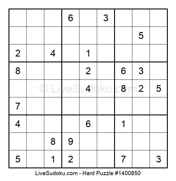 Hard Puzzle #1400850