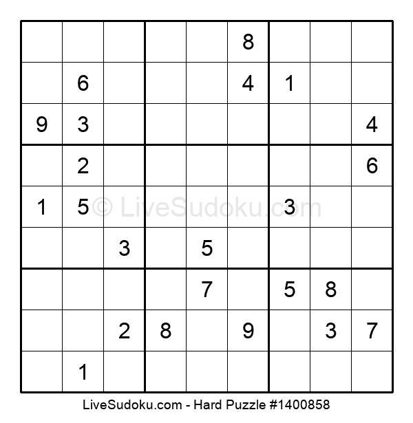 Hard Puzzle #1400858