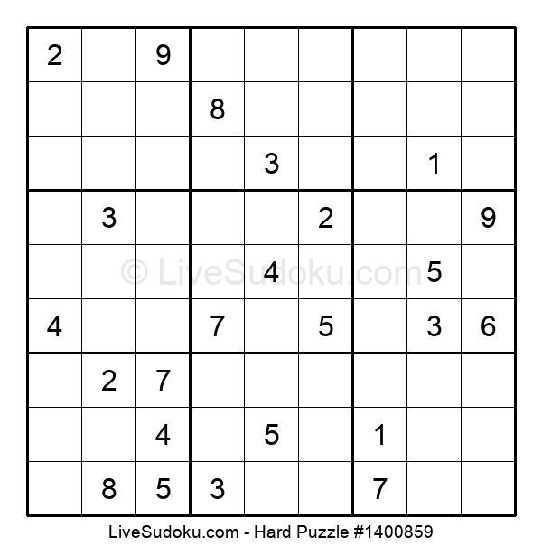 Hard Puzzle #1400859