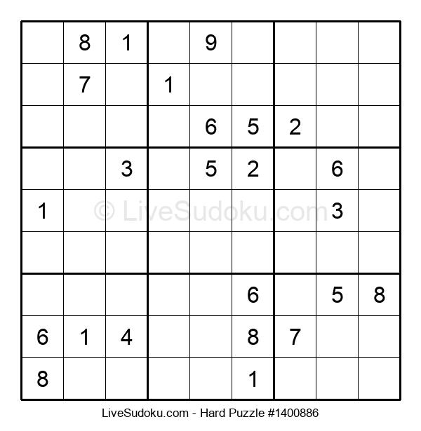 Hard Puzzle #1400886