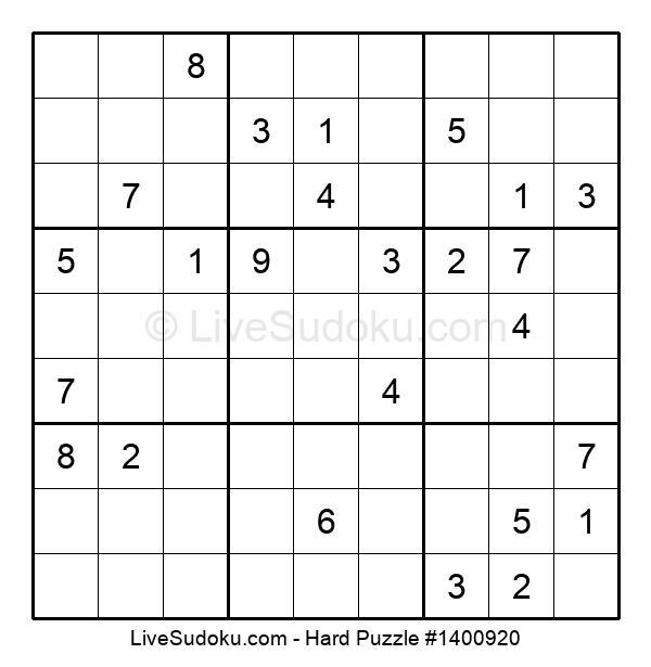Hard Puzzle #1400920