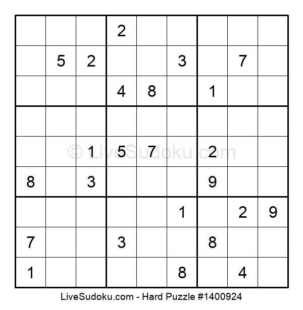Hard Puzzle #1400924