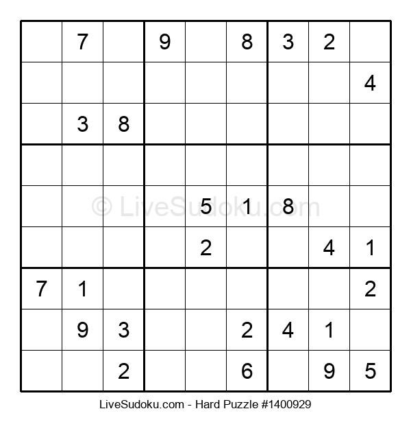 Hard Puzzle #1400929