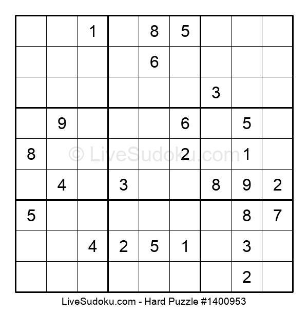 Hard Puzzle #1400953