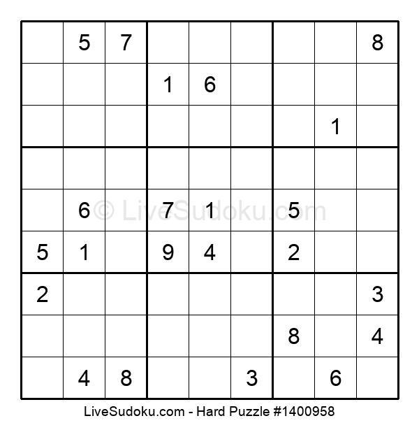 Hard Puzzle #1400958