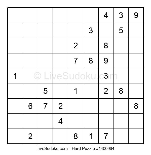 Hard Puzzle #1400964