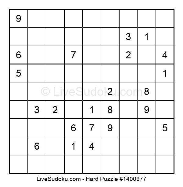Hard Puzzle #1400977