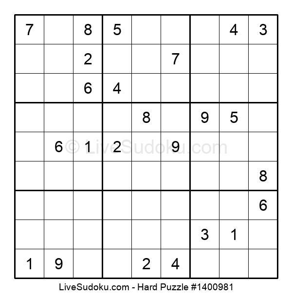Hard Puzzle #1400981