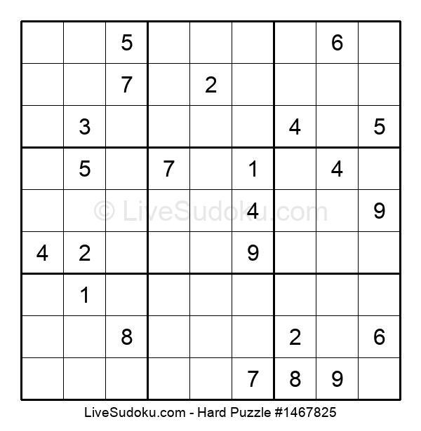 Hard Puzzle #1467825