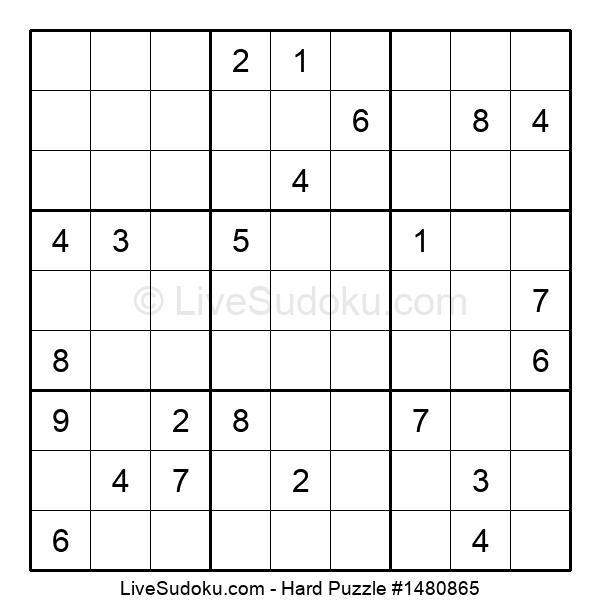 Hard Puzzle #1480865