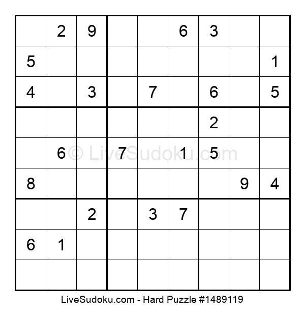 Hard Puzzle #1489119