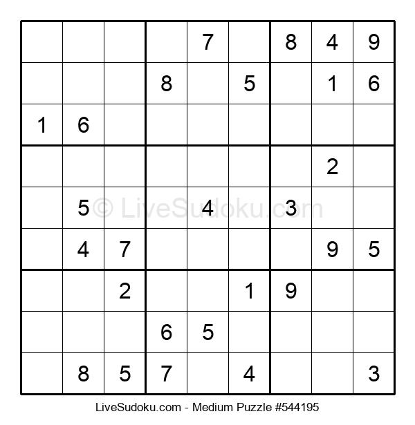 Medium Puzzle #544195