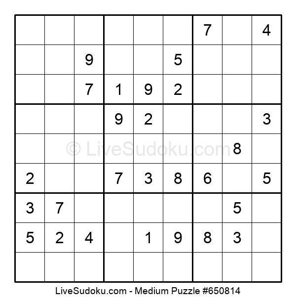 Medium Puzzle #650814