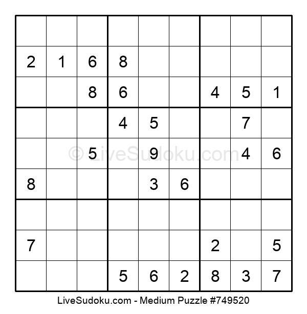 Medium Puzzle #749520