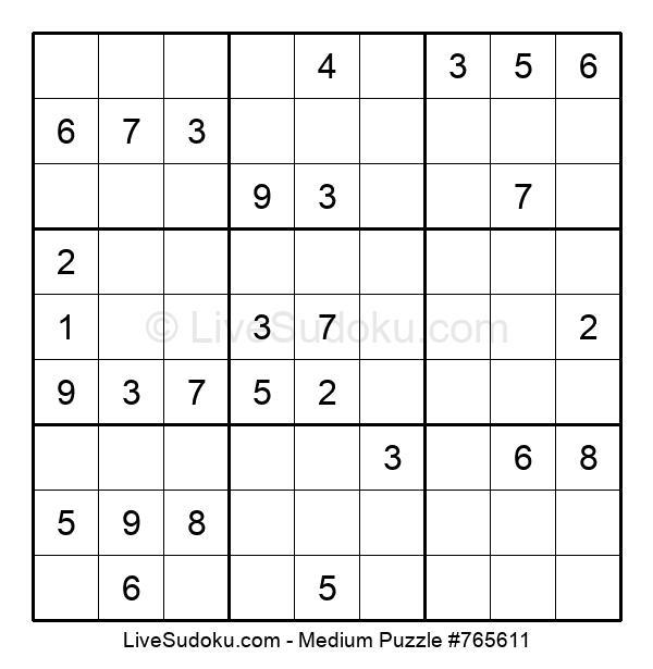 Medium Puzzle #765611