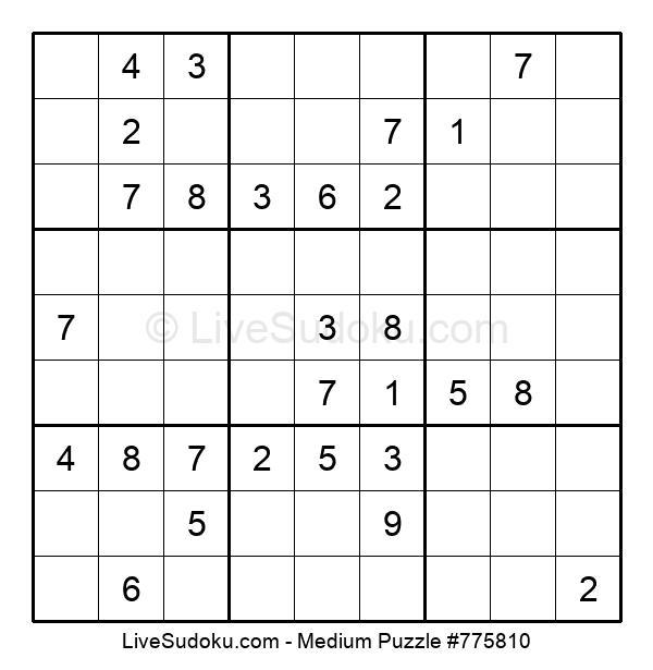 Medium Puzzle #775810