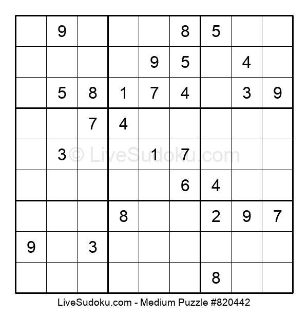 Medium Puzzle #820442