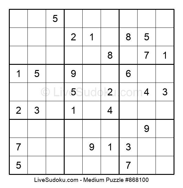 Medium Puzzle #868100