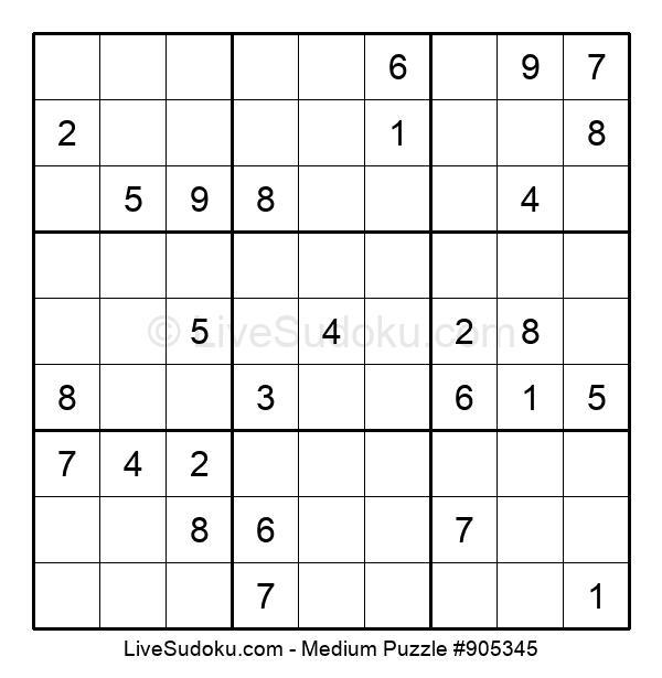 Medium Puzzle #905345